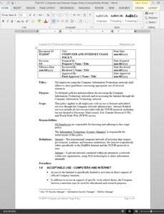 free computer internet usage and acceptable use policy procedure  itad107 acceptable use policy template doc