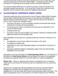 free corporate credit card policy & guidelines  pdf free download company credit card policy template word