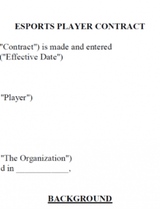 free creating an esport player contract template part 1 video game contract template example