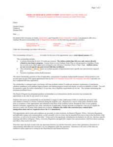 free draft graduate assistantship contract letter research assistant contract template sample