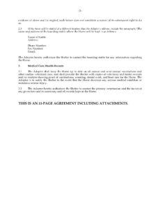 free equine adoption agreement horse adoption contract template example