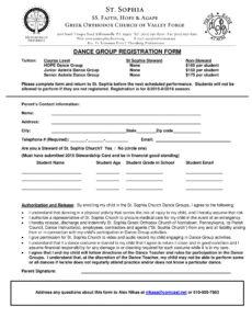 free free 12 dance registration forms in pdf pdf  ms word  excel dance team contract template doc