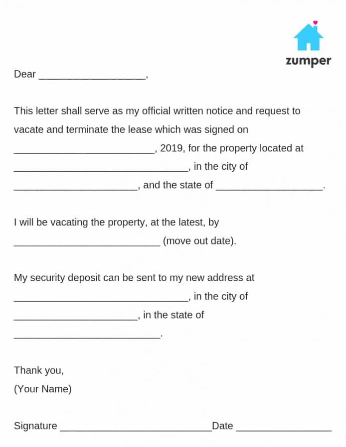 free how to write a 30day notice to vacate template letter of intent to vacate apartment template pdf