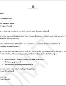 free tenants notice to end tenancy  template letter uk to moving out notice letter template pdf