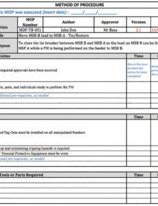 free the making of a good method of procedure working alone policy template example