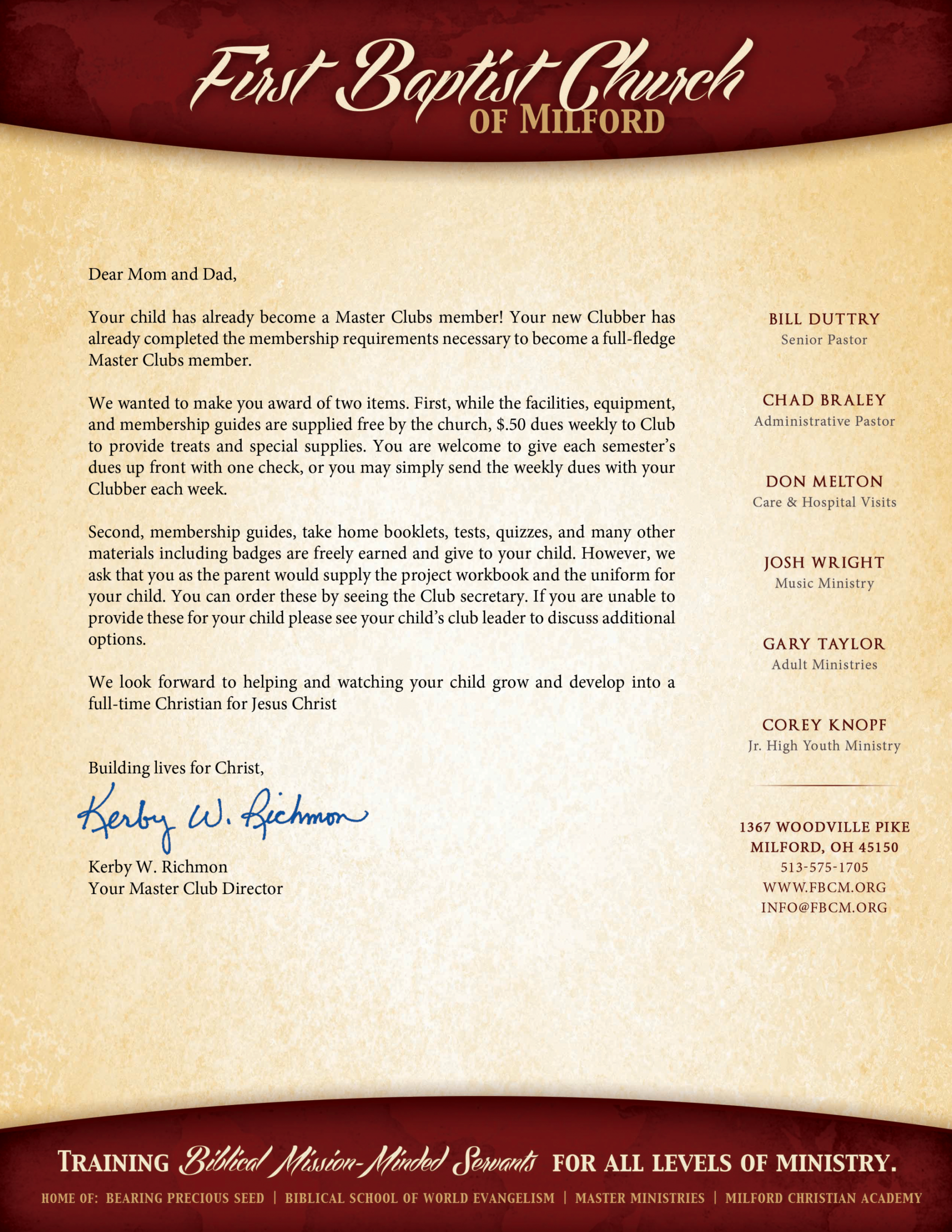 index of filessecretary welcome letter for church visitors template