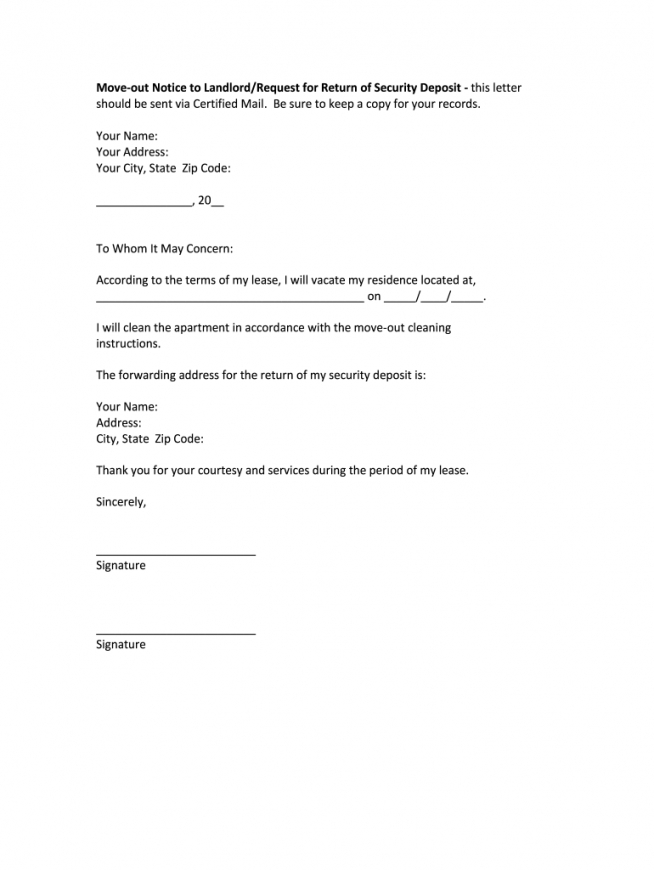 move out notice  fill out and sign printable pdf template  signnow moving out notice letter template