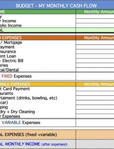 personal cash flow statement template ~ addictionary personal cash flow statement template