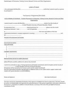 printable 12 letter of intent for job  radaircars special needs letter of intent template pdf