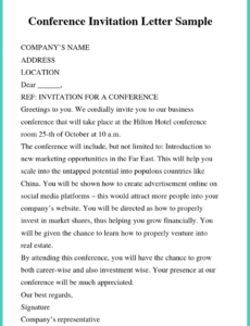 printable 5 ?free example business letter of invitation templates? conference invitation letter template pdf