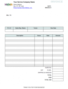 printable free invoice template for hours worked  20 results found statement of services rendered template word