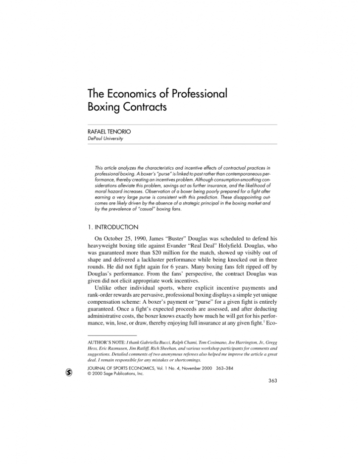 printable pdf the economics of professional boxing contracts boxing manager contract template word