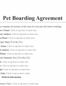 printable pet boarding agreement template  antonlegal pet boarding contract template word