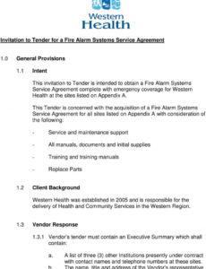 printable specifications for tender  supply of a fire alarm systems fire alarm maintenance contract template excel