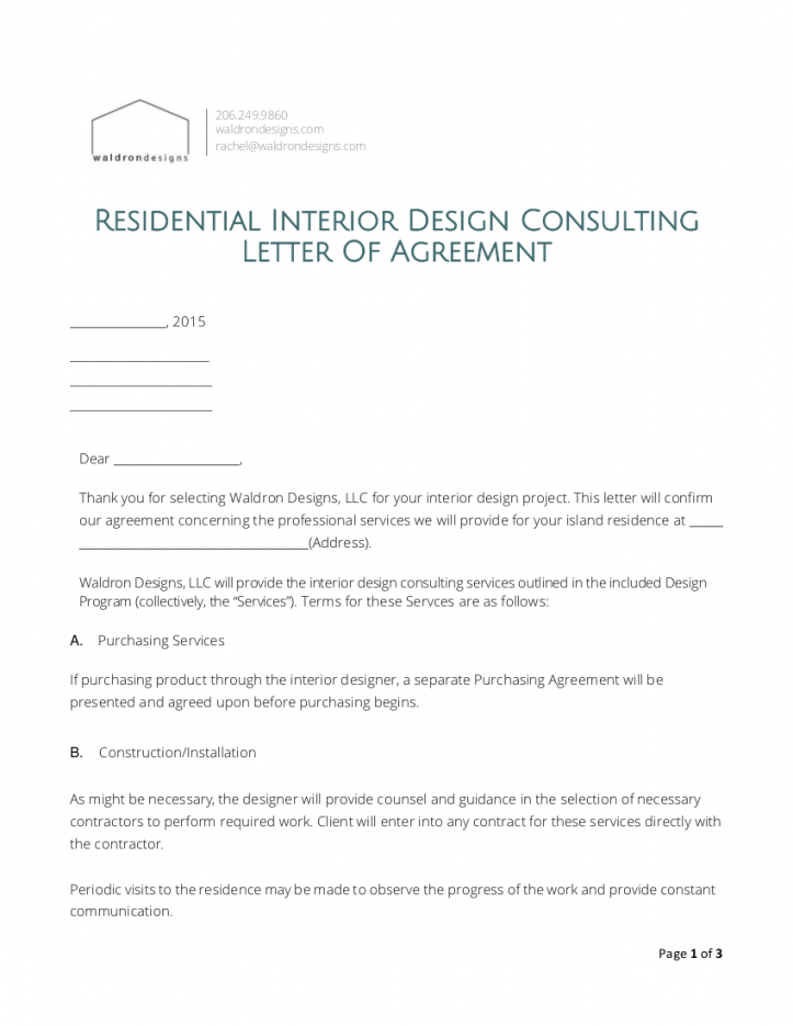 sample 8 interior design proposal examples in pdf  ms word interior decorator contract template excel