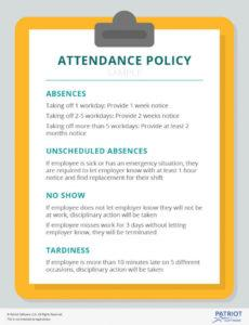 sample what to include in your small business attendance policy employee attendance policy template sample