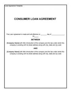 40 free loan agreement templates word & pdf  templatelab property loan agreement template pdf