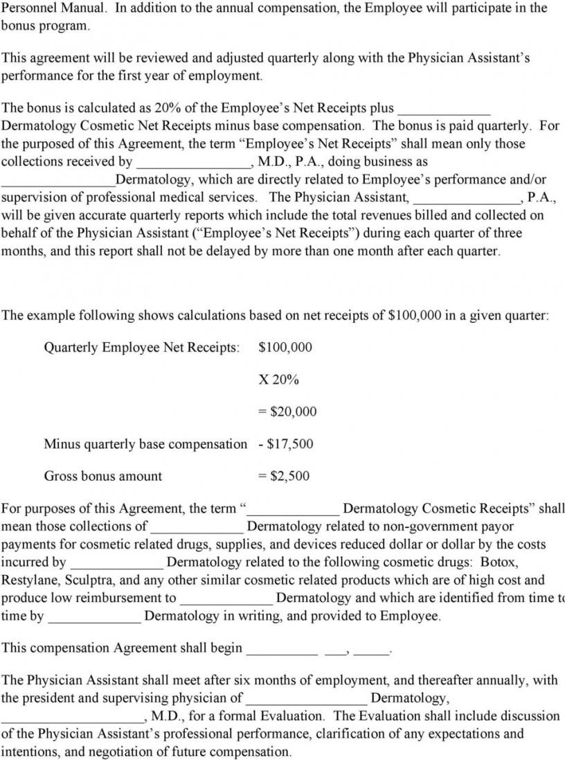 physician assistant employment agreement terms of agreement physician assistant employment contract template sample