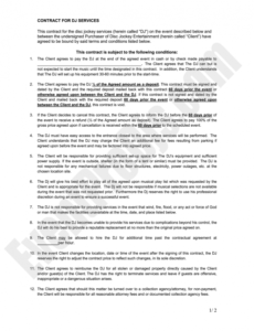 printable dj contract pdf  fill out and sign printable pdf template  signnow contract for dj services template example