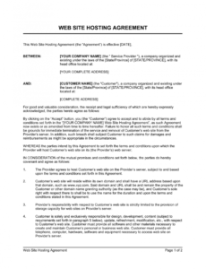 printable web site hosting agreement template  by businessinabox™ website hosting contract template pdf