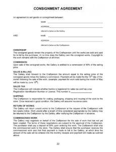 Best Consignment Store Agreement Template Word