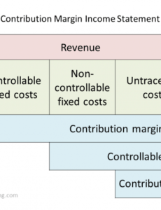 Best Contribution Margin Income Statement Template Word