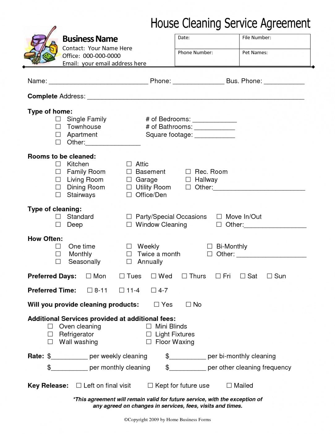 Best Janitorial Services Contract Template