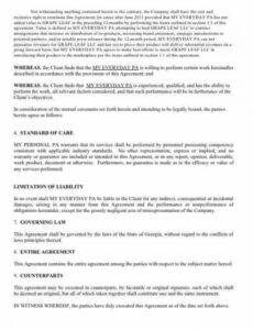 Best Marketing Consultant Contract Template Word Sample