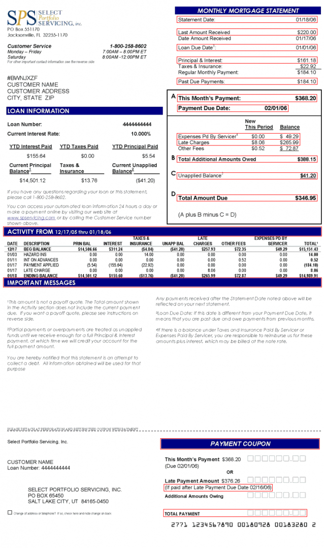 Best Mortgage Statement Template Word Example