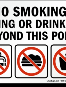 Best No Smoking Policy Template Excel
