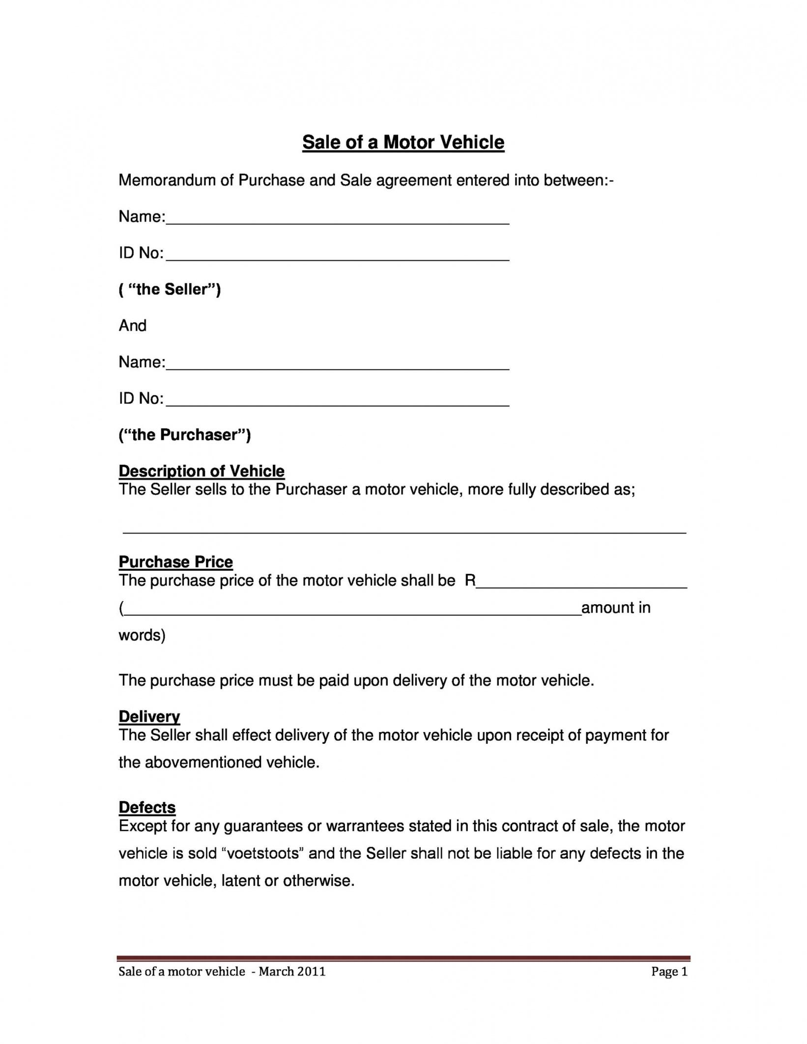 Buy Here Pay Here Contract Template Word