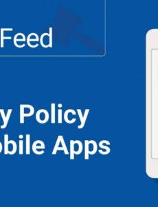 Costum App Privacy Policy Template Doc Example