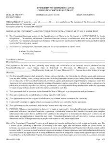 Costum Educational Consultant Contract Template Excel Example