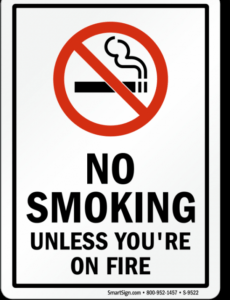 Costum No Smoking Policy Template Excel Example
