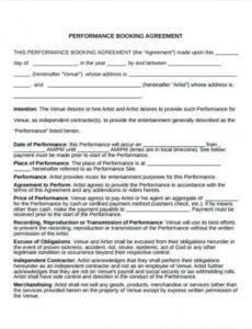 Costum Talent Management Contract Template Word