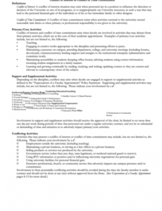Editable Conflict Of Interest Policy Template  Sample