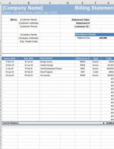 Editable Itemized Billing Statement Template Pdf