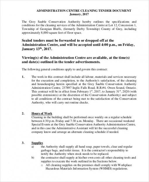 Editable Janitorial Services Contract Template  Example