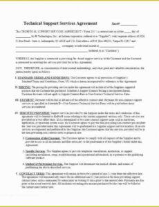 Editable Software Service Contract Template  Example