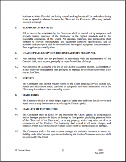 Free Janitorial Services Contract Template Pdf Example
