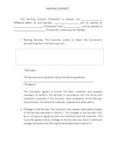 Free Painters Contract Template Pdf Example