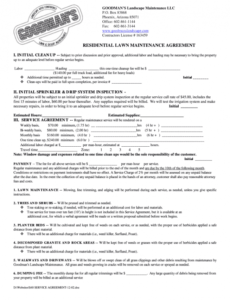 Lawn Maintenance Contract Template Pdf