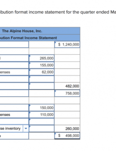 Printable Contribution Margin Income Statement Template Excel