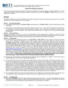 Printable Educational Consultant Contract Template Pdf