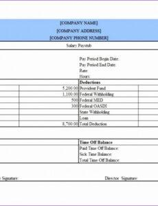 Printable Independent Contractor Profit And Loss Statement Template Pdf