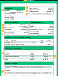 Printable Mortgage Statement Template Doc Example