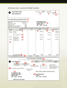 Printable Mortgage Statement Template Excel Sample