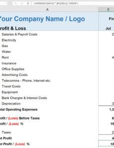 Printable Self Employment Income Statement Template Doc Example