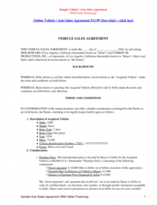 Printable Seller Financing Contract Template Pdf