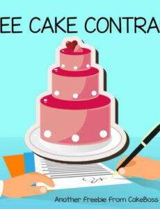 Professional Cake Contract Template Pdf Sample